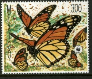 MEXICO 1562, Monarch Butterflies, World Wildlife Fund MNH