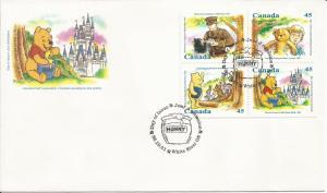 1996 Canada FDC Sc 1621a - Winnie the Pooh