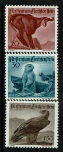 Liechtenstein SC# 223-225, Mint Never Hinged, 225 very minor vert crease - S2981