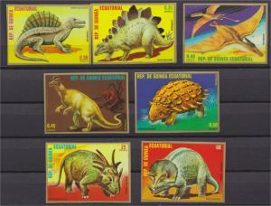 Equatorial Guinea MNH 7877-83 Dinosaurs