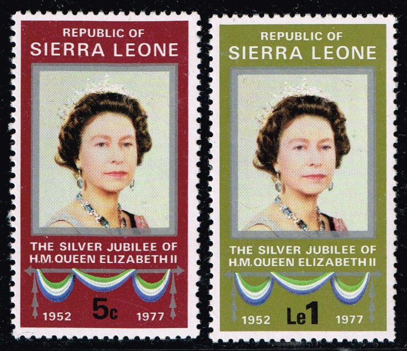 Sierra Leone STAMP 1977  25th Anniversary of the Queen Elizabeth I MNH/OG STAMPS