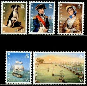 GIBRALTAR Sc#765-769 1998 Battle of the Nile Complete Set OG Mint NH