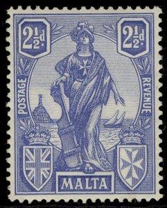 MALTA GV SG129, 2½d ultramarine, NH MINT.