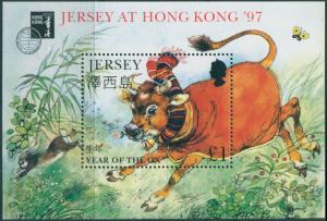 Jersey 1997 SG769 Chinese New Year of the Ox Hong Kong MS MNH
