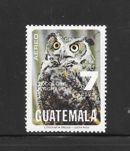 BIRDS - GUATEMALA #C678-HORNED OWL  MNH