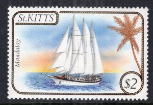 St Kitts 167 Sailboat MNH VF