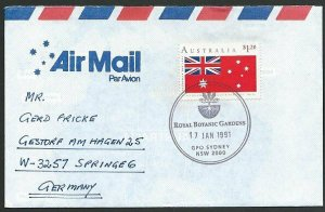 AUSTRALIA 1991 cover to Germany - nice franking - Sydney Pictorial pmk.....47300