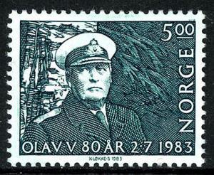 Norway 827, MNH. King Olav V, 80th birthday, 1983