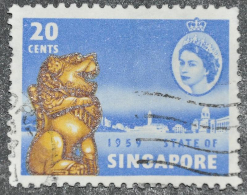 DYNAMITE Stamps: Singapore Scott #45 – USED