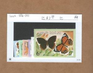 Laos  386-391  MNH