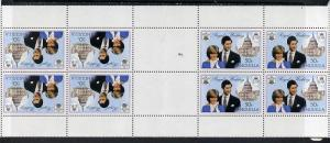 Booklet - Anguilla 1981 Royal Wedding 50c two uncut bookl...