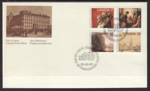 Canada 852a Paintings Canada Post U/A FDC