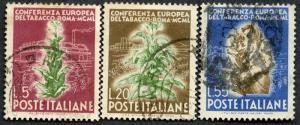 Italy Sc# 544 - 546, Used.   2017 Scott CV $37.75