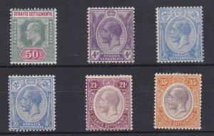 BC970) Malaysia – Straits Settlements 1902 Edw VII 50c Dull green & carmine