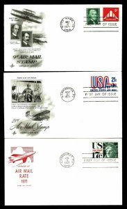 US #C75, C77& C80 Airmail First Day Covers - Courtesy Listing (ESP#023)