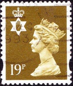 GREAT BRITAIN Northern Ireland 1993 QEII 19p Bistre Machin SGNI69 FU