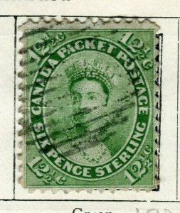 CANADA; 1865 early classic QV issue used 12.5c. value