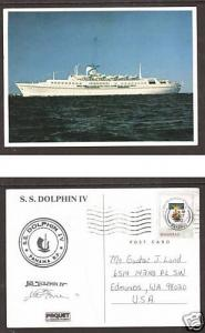 Bahamas Sc 510 on 1982 S.S. Dolphin PAQUEBOT PPC  3;9