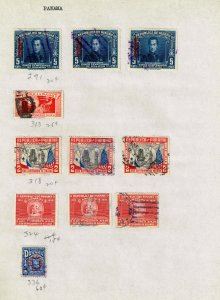 PANAMA STAMP USED  STAMPS ON PAGE COLLECTION LOT  #3
