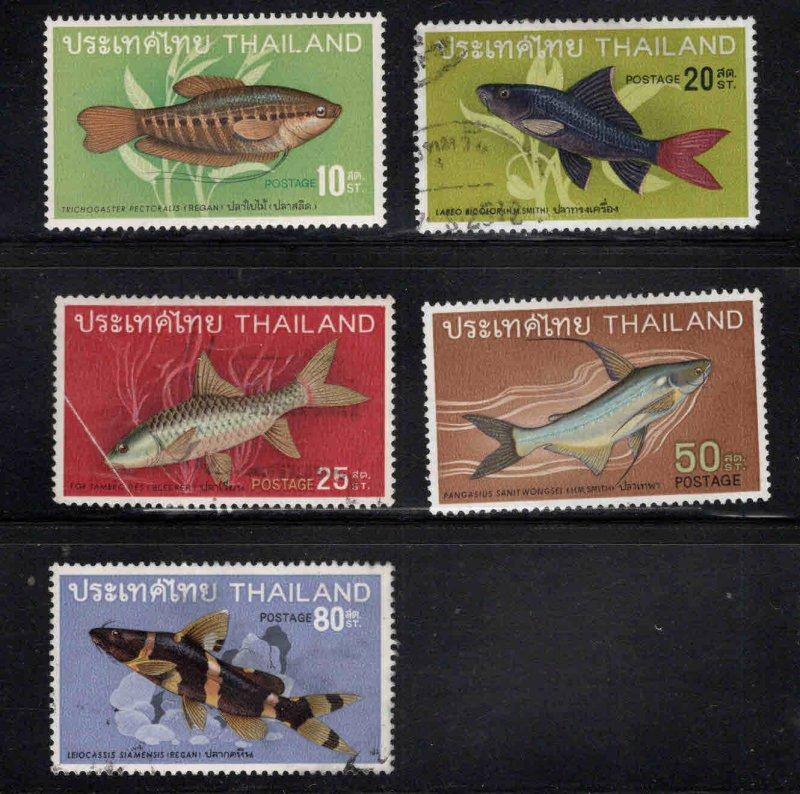 THAILAND Scott 501-505 Used Fish short set 5/8 1968