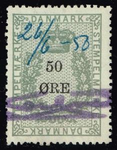 Denmark 50o Revenue Stamp