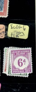 GILBERT & ELLICE ISLANDS (P0708B) POSTAGE DUE TO 6D  SG D1-6   MOG