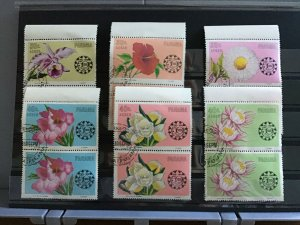 Panama Flowers  cancelled stamps pairs R25462