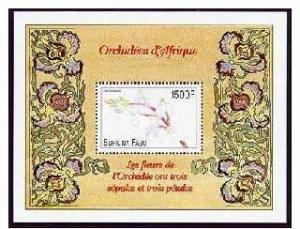 BURKINA FASO SHEET FLOWERS ORCHIDS
