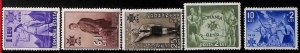 94962a - ROMANIA - STAMP - Yvert #  481-85   - MInt Never Hinged MNH  Boy Scouts