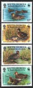 Falkland Islands. 1992. 203-6. Ducks, WWF. MNH.