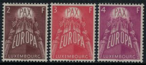 Luxembourg #329-31*  CV $30.00