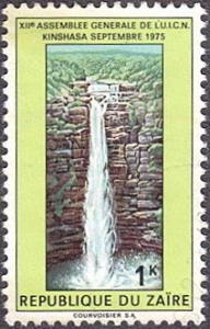 Zaire # 818 used ~ 1k Waterfall