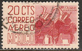 MEXICO C220k, 20cents 1950 Definitive 2nd Ptg wmk 300 PERF 11 1/2X11 USED (1065)