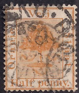 Orange Free State South Africa 1883 - 84 QV 1/2d Chestnut used SG 48 ( H1479 )