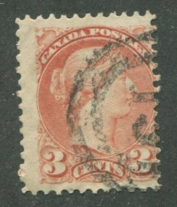 CANADA #37 USED SMALL QUEEN 2-RING NUMERAL CANCEL 19