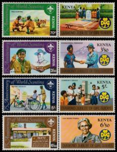 ✔ KENYA 1982 - SCOUTING JAMBOREE TOP SET - MI. 214/221 ** MNH [AFKN214]