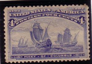 US  Sc# 233 Fleet of  Columbus  MDG