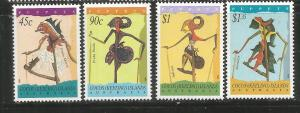 COCOS ISLANDS, 293-296, MNH, PUPPETS