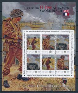 [81212] Nevis 2011 Second World war D-day Sword beach Sheet MNH