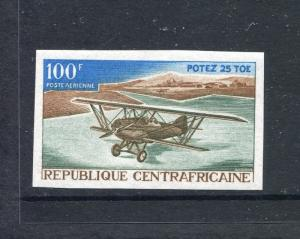 Central Africa C47 MNH Airplane Potez 25 TOE Imperforated 1967. X27776