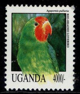 UGANDA QEII SG1159, 1992 4000s red-faced lovebird, NH MINT.
