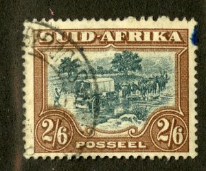 SOUTH AFRICA 30b USED SCV $24.00 BIN $10.00 STAGE COACH