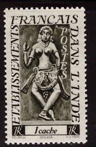 FRENCH INDIA  Scott 212 MH* stamp with similar centering