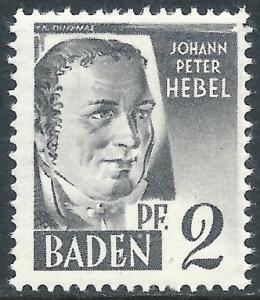 Baden, Sc #5N1, MH
