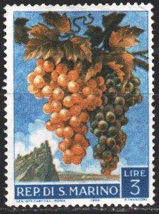 San Marino. 1958. 596 from the series. Grape. MNH.