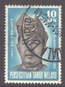 Malaya Federation Scott 98 - SG19, 1961 Installation of Sultan 10c used