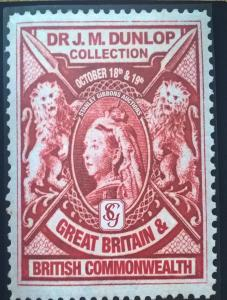 Auction Catalogue - DR JM DUNLOP Collection Great Britain & British Commonwealth