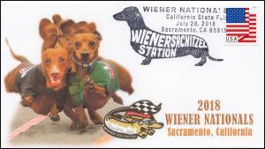 18-201, 2018, Wiener Nationals, Event Cover, Pictorial Postmark, Sacramento CA