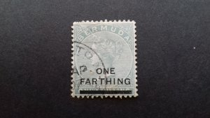 Bermuda 1901 Not Issued Stamp Surcharged Queen Victoria Used