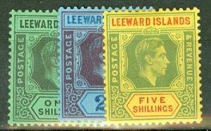 AA: Leeward Islands 103-4, 105a, 106-113 mint CV $48.60; scan shows only a few